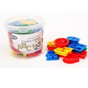 36 piece alphabet and number cookie cutters