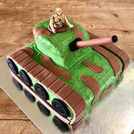 Army Tank Cake Kit - Boys Birthday Cake Recipe Kit - Decorating Kit