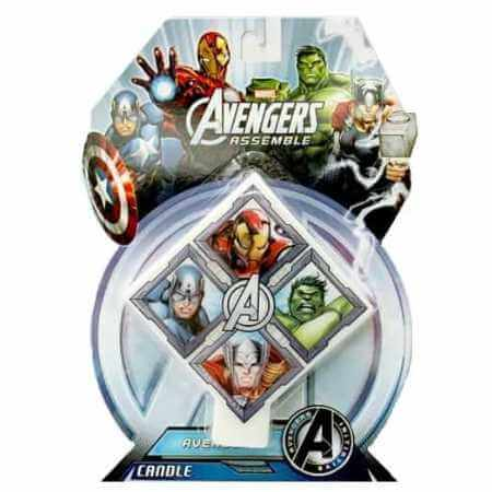 Avengers Candle perfect for our DIY American Superheros Birthday Cake Kit