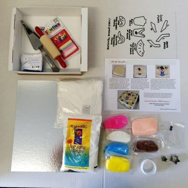 Gymnastics Cake Kit Girls Birthday Cake Recipe Kit