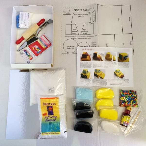 Cake Decorating Theme Kits : Digger Cake Kit - Boys Birthday Cake Recipe Kit - DIY ...