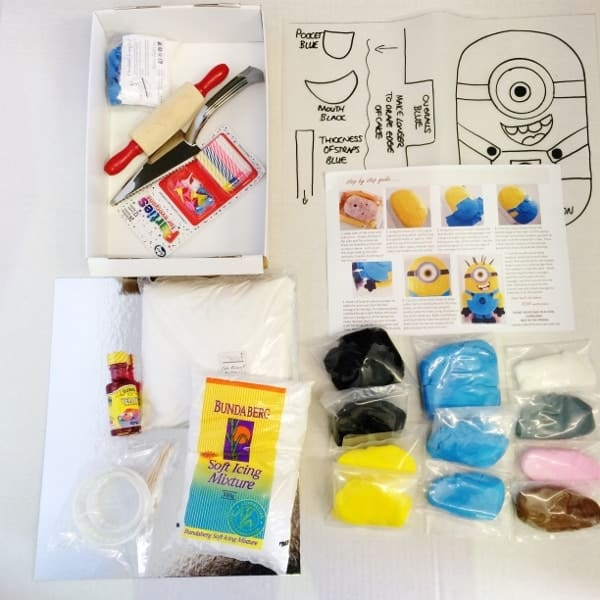 Minion Birthday Cake Kit Ingredients 600600 Cake 2 The Rescue