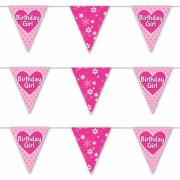 Specialty Bunting Birthday Girl close up