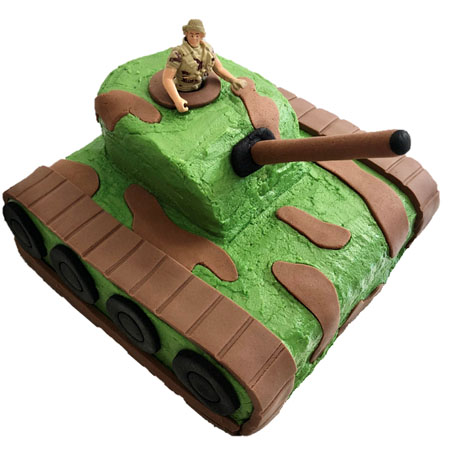 Army tank boys birthday cake DIY kit from Cake 2 The Rescue
