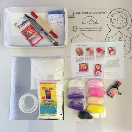 babushka Russian doll DIY cake kit contents from Cake 2 The Rescue
