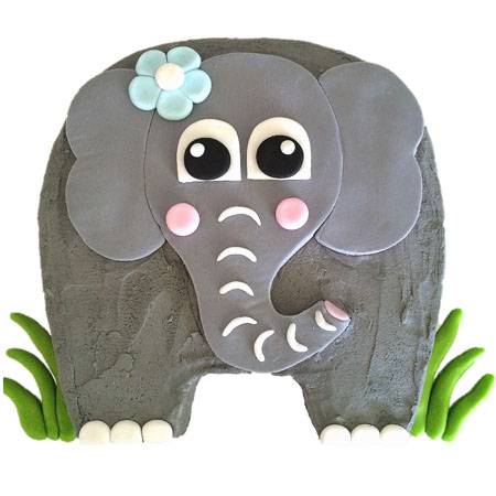 baby elephant first birthday cake DIY kit from Cake 2 The Rescue