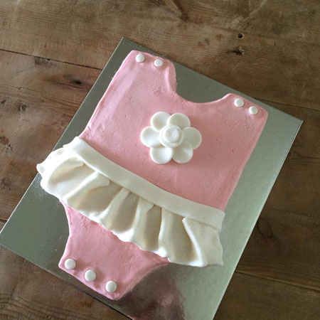 baby grow baby shower girl cake kit from Cake 2 The Rescue