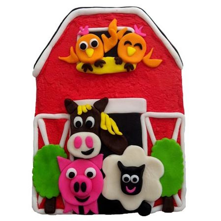 barnyard farm kids birthday cake diy cake kit Cake 2 The Rescue