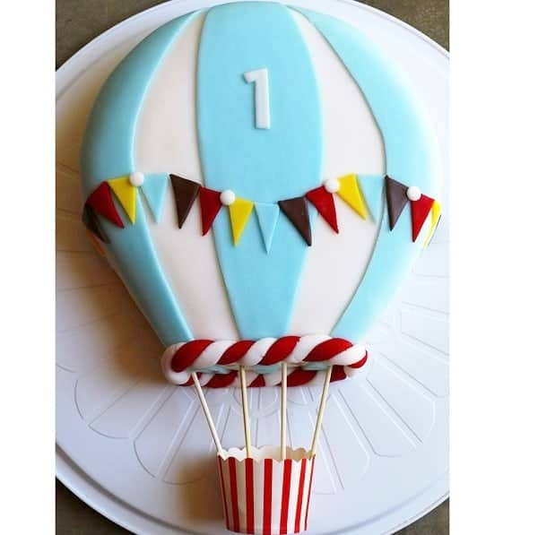 Blue Balloon Cake Kit Boys Birthday Cake Recipe Diy