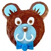 blue teddy cake kit