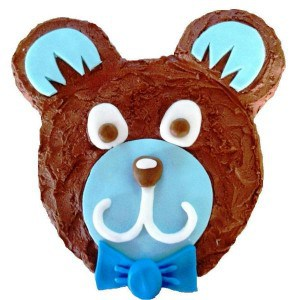 blue teddy cake kit