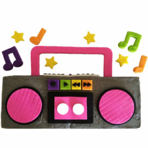 Boombox birthday cake DIY kit from Cake 2 The Rescue