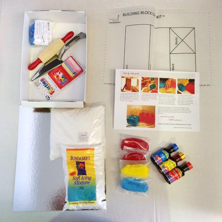building blocks diy cake kit contents from Cake 2 The Rescue