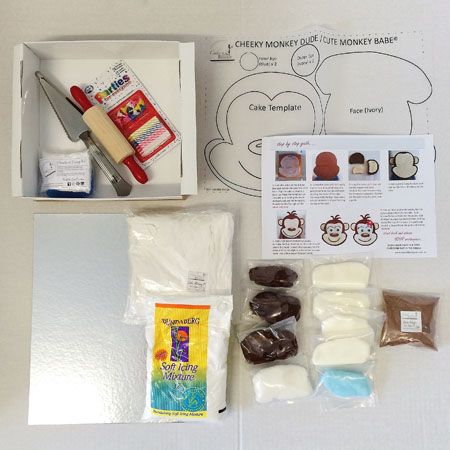 cheeky monkey dude first birthday boy cake kit contents from Cake 2 The Rescue