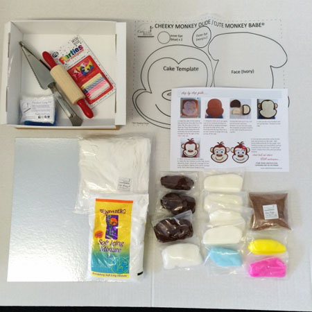 cheeky monkey girl baby shower cake kit from Cake 2 The Rescue