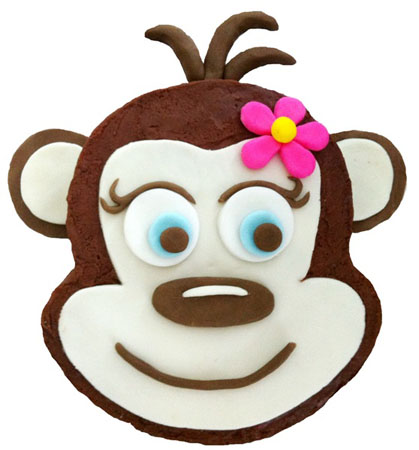 cheeky monkey girl first birthday cake DIY kit from Cake 2 The Rescue