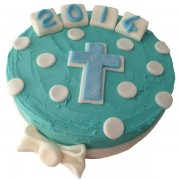 christening Butter Icing Cake Kit blue 600