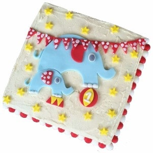 circus elephant diy cake kit blue 600