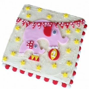 circus elephant diy cake kit pink 600