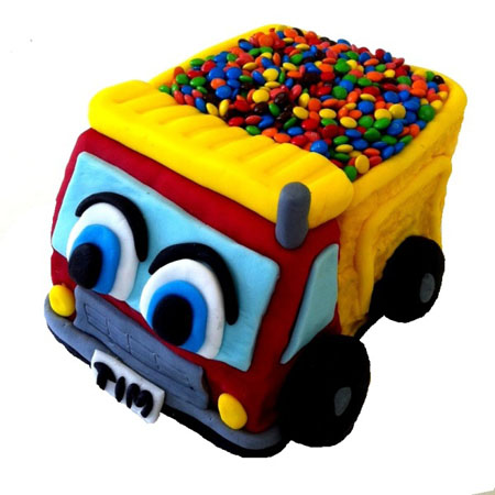 construction birthday party dump truck DIY kit from Cake 2 The Rescue