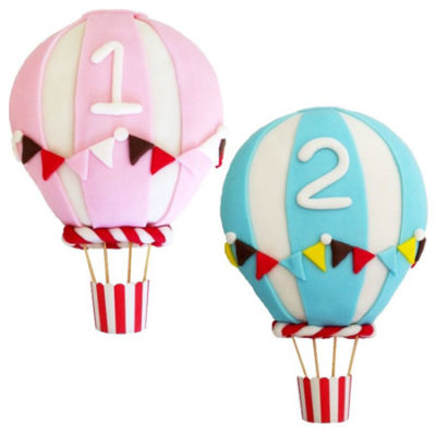cute hot air balloon baby shower birthday cake DIY kit from Cake 2 The Rescue
