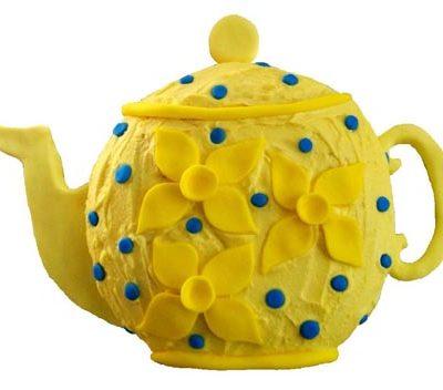 daffodil teapot birthday cake DIY Cake kit from Cake 2 The Rescue