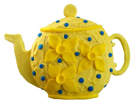 daffodil teapot birthday cake DIY Cake kit from Cake 2 The Rescue