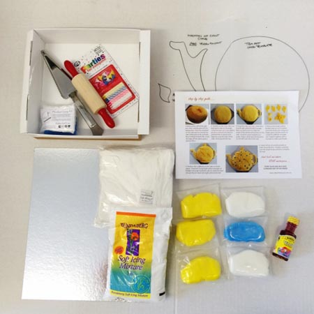 daffodil teapot Mother's Day DIY cake kit contents from from Cake 2 The Rescue