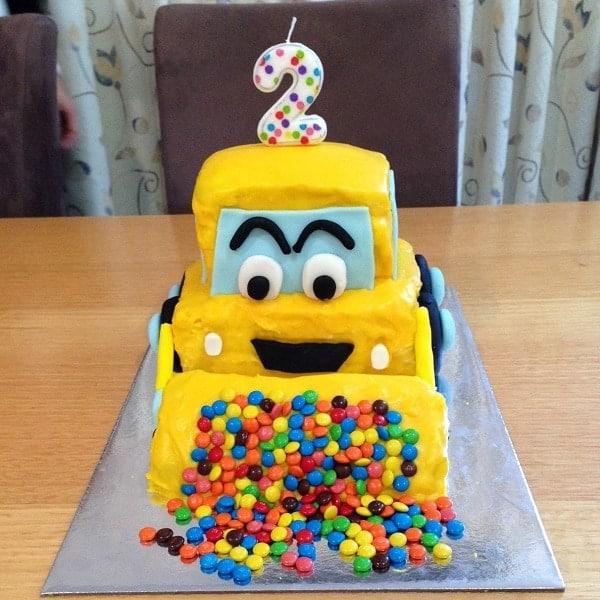 Digger cake kit boys birthday cake recipe kit diy for Digger cake template