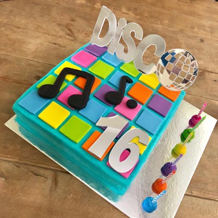 disco party theme for tween or teen birthday DIY cake kit from Cake 2 The Rescue
