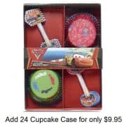 disney cars cupcake cases and picks price