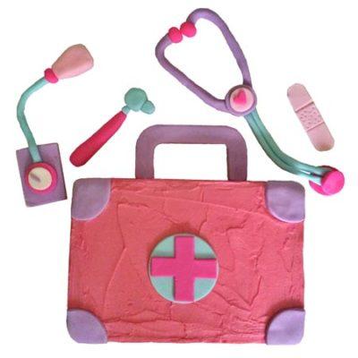 doctors kit kids birthday cake pink DIY Cake kit from Cake 2 The Rescue
