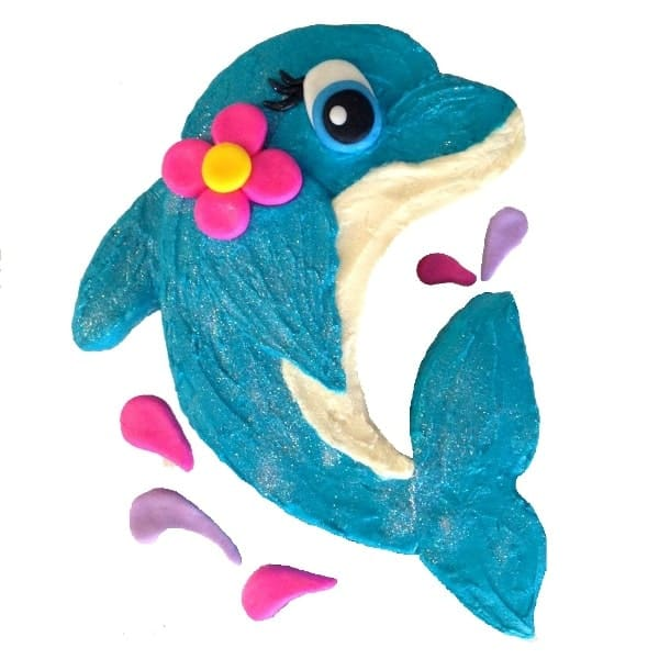 Dolphin Cake Kit Girls Birthday Cake Recipe Kit Decorating Kit