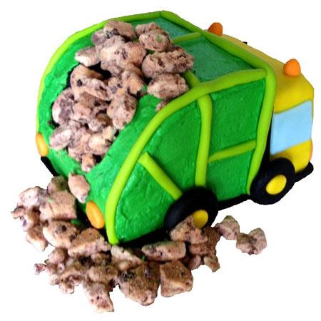 Dump truck birthday DIY cake kit from Cake 2 The Rescue
