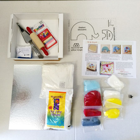 easy circus cake first birthday boy cake kit contents from Cake 2 The Rescue