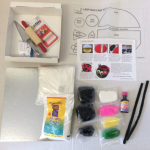 easy girl ladybug cake kit contents from Cake 2 The Rescue