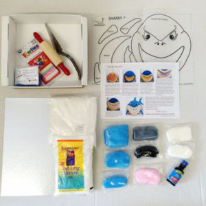 Easy shark cake kit contents from Cake 2 The Rescue