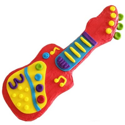 easy toy guitar perfect for wiggles themed birthday party DIY cake kit from Cake 2 The Rescue
