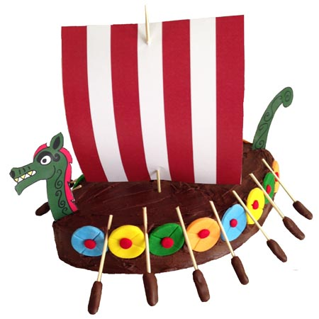 easy viking ship birthday boys DIY cake kit from Cake 2 The Rescue