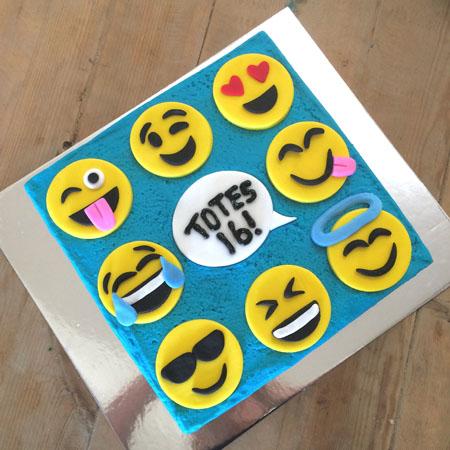 emoji teenage girl birthday cake idea cake kit from Cake 2 The Rescue