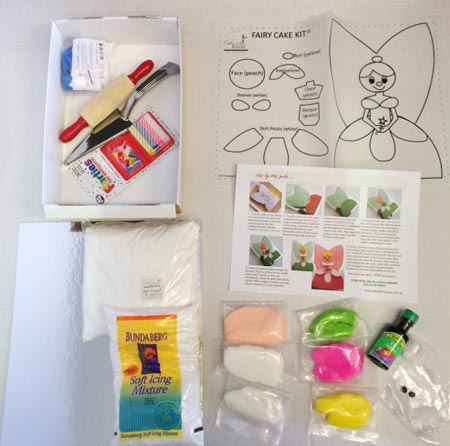 fairy pink DIY cake kit contents from Cake 2 The Rescue