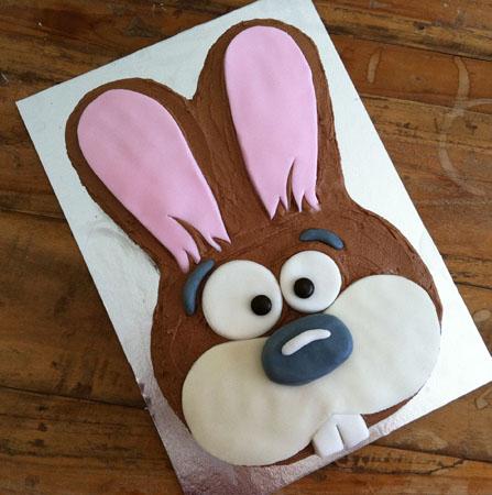 farm themed bunny birthday cake DIY cake kit from Cake 2 The Rescue