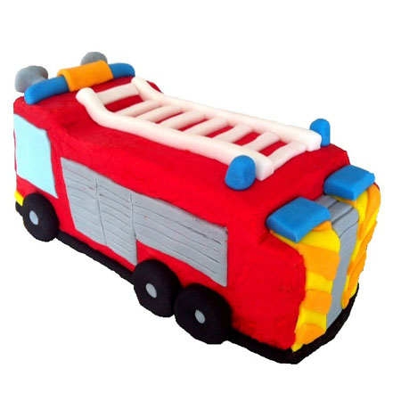 Fire engine birthday cake kit from Cake 2 The Rescue