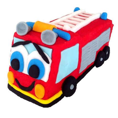 Fire engine cake birthday DIY kit from Cake 2 The Rescue