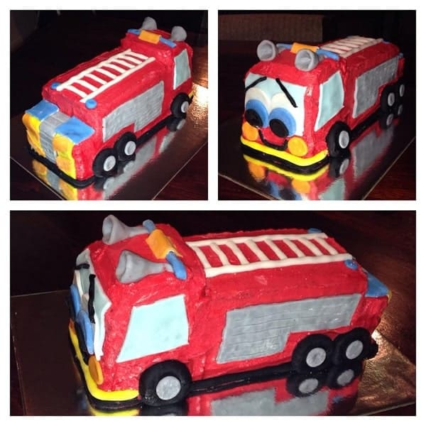 Fantastic Diy Fire Engine Birthday Cake Kit Cake 2 The Rescue Personalised Birthday Cards Arneslily Jamesorg