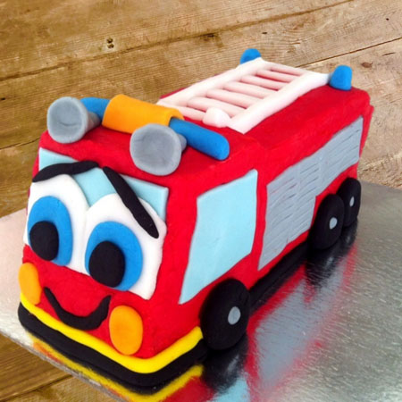 Fire truck birthday DIY cake kit from Cake 2 The Rescue