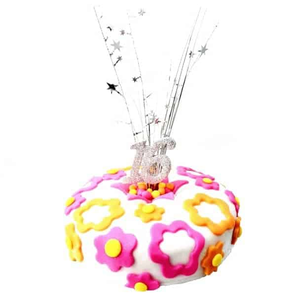 flower milestone cake kit