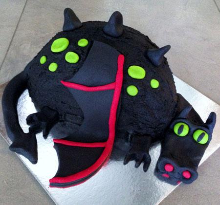 Friendly dragon black birthday DIY cake kit from Cake 2 The Rescue