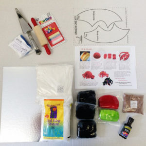 Friendly dragon cake kit contents from Cake 2 The Rescue