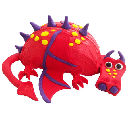 Friendly dragon red birthday cake kit from Cake 2 The Rescue
